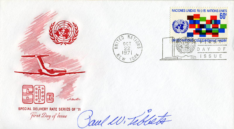 Image 1 for Enola Gay Crew (Paul W. Tibbets) - First Day Cover Signed - HFSID 46276