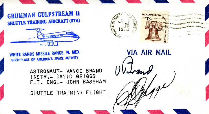 Image 1 for S. David Griggs - Commemorative Envelope Signed co-signed by: Vance Brand - HFSID 46305