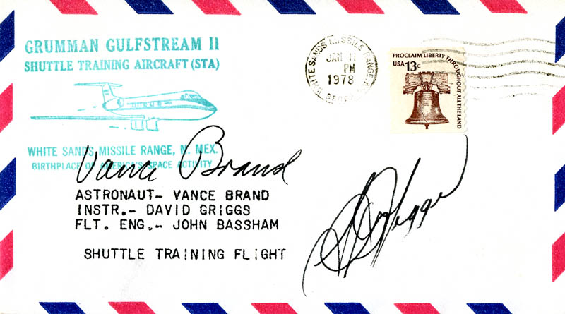 Image 1 for S. David Griggs - Commemorative Envelope Signed co-signed by: Vance Brand - HFSID 46317