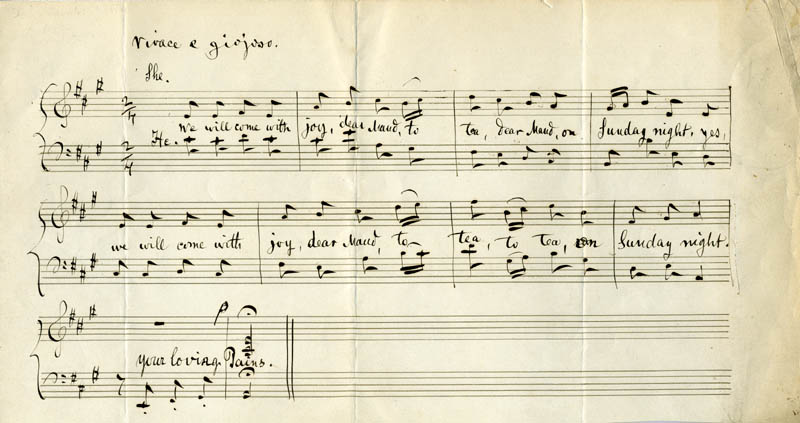 Image 1 for John K. Paine - Autograph Musical Manuscript Signed Circa 1880 - HFSID 46453