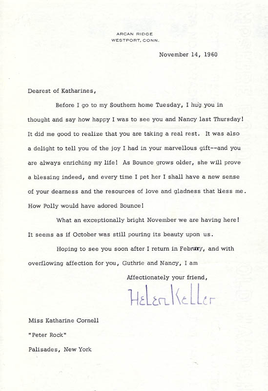 Image 1 for Helen Keller - Typed Letter Signed 11/14/1960 - HFSID 46460