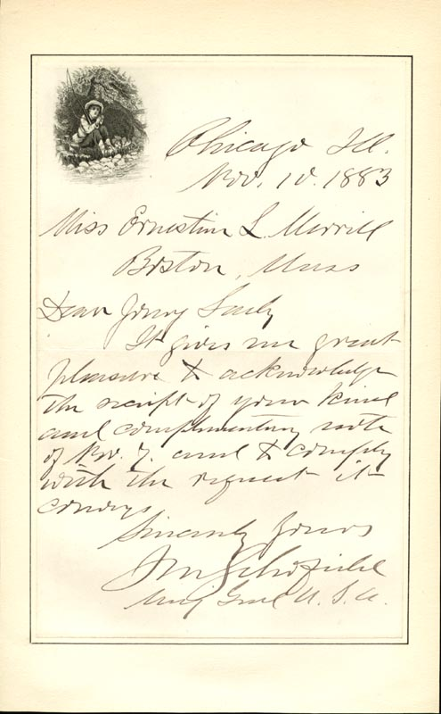 Image 1 for Lt. General John M. Schofield - Autograph Letter Signed 11/10/1883 - HFSID 46471