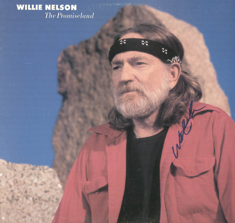 Image 1 for Willie Nelson - Record Album Cover Signed - HFSID 46532