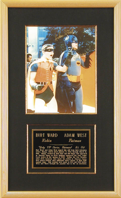 Image 1 for Batman TV Cast - Autographed Signed Photograph co-signed by: Burt Ward, Adam West - HFSID 46561