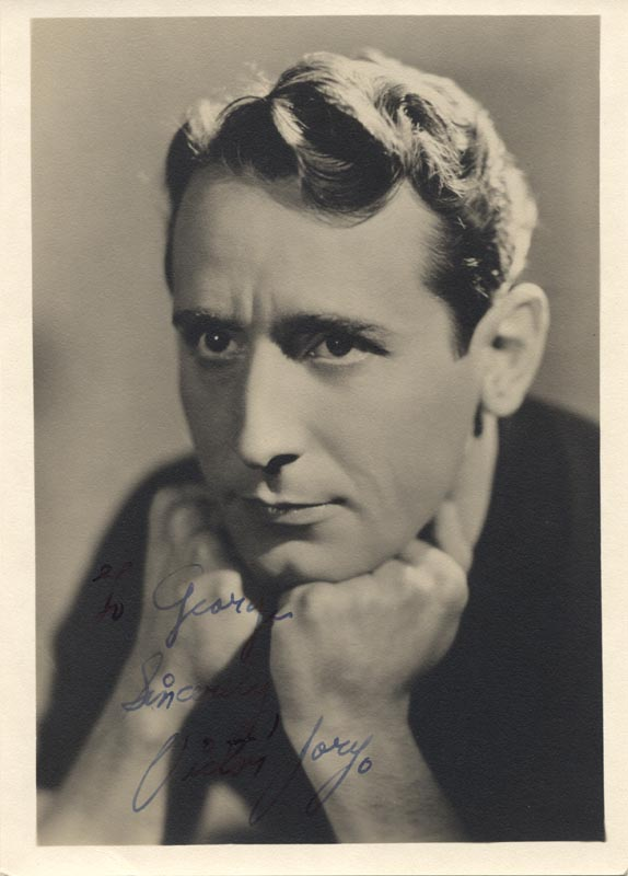 Image 1 for Victor Jory - Autographed Inscribed Photograph Circa 1937 - HFSID 46588