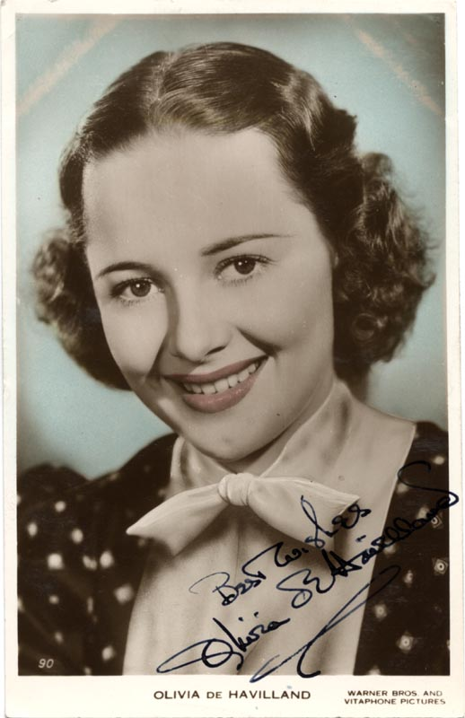 Image 1 for Olivia De Havilland - Picture Post Card Signed - HFSID 46593