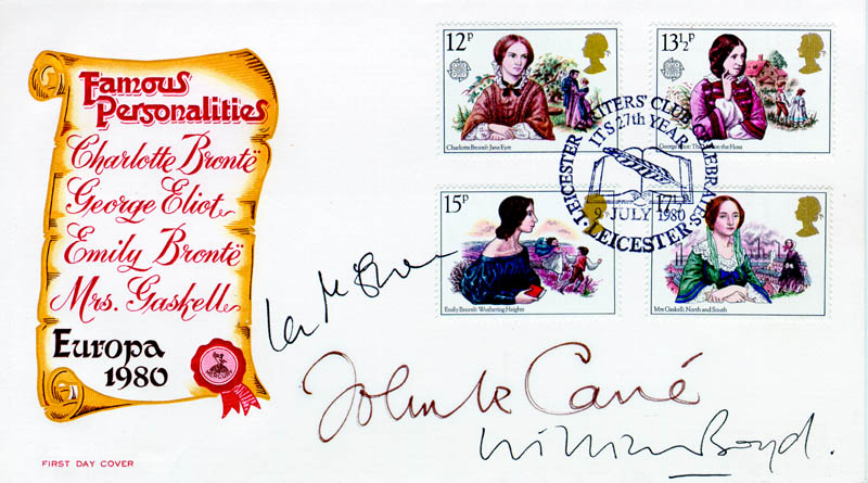 Image 1 for John Le Carre - First Day Cover Signed co-signed by: William Boyd, Ian Mcewan - HFSID 46622