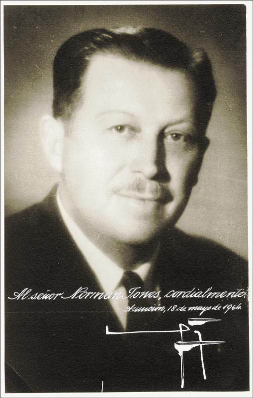 Image 1 for President Alfredo Stroessner (Paraguay) - Autographed Signed Photograph 05/18/1964 - HFSID 46636