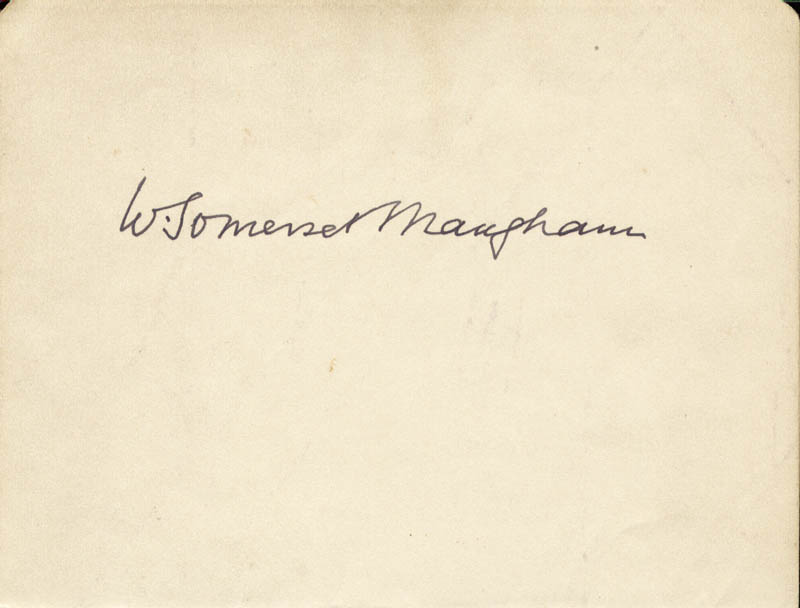 Image 1 for W. Somerset Maugham - Autograph - HFSID 46698