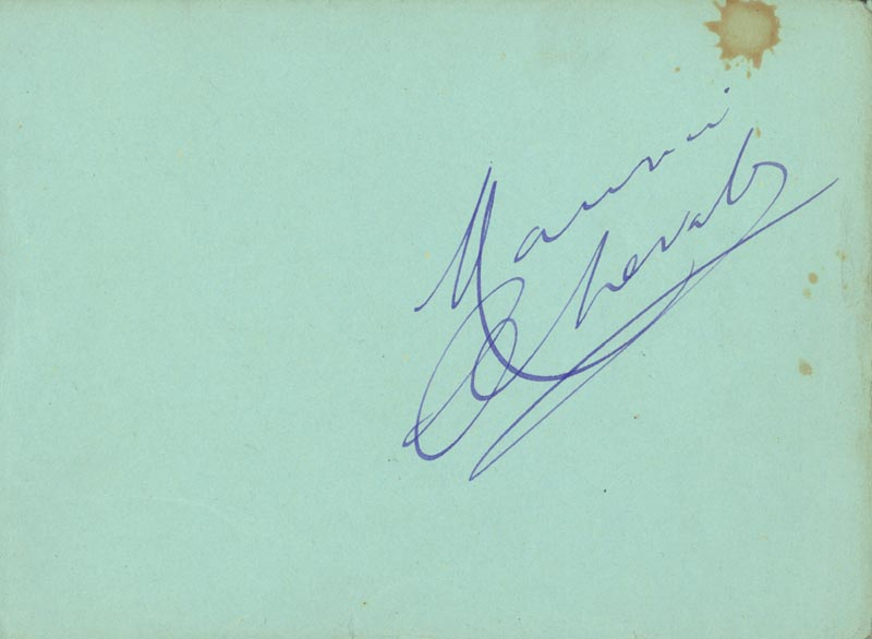 Image 1 for Maurice Chevalier - Autograph - HFSID 46702