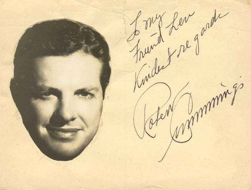 Image 1 for Robert 'Bob' Cummings - Autograph Note Signed - HFSID 46704