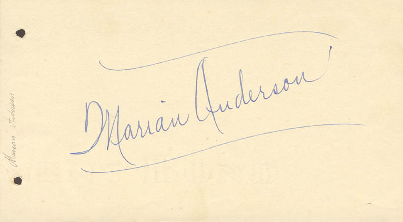Image 1 for Marian Anderson - Autograph - HFSID 46710