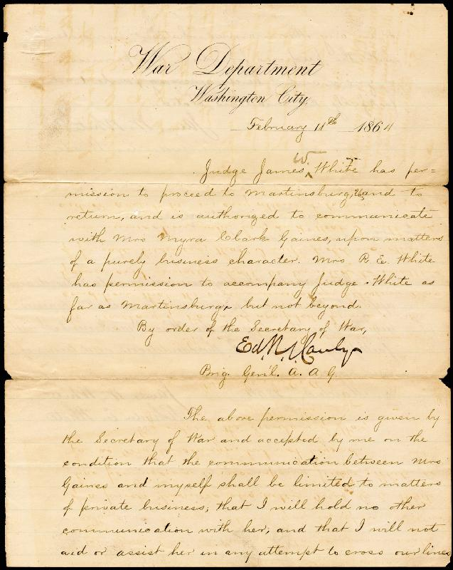 Image 3 for Major General Edward R. Canby - Manuscript Document Signed 02/11/1864 with co-signers - HFSID 46741