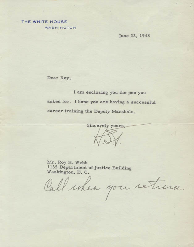Image 1 for President Harry S Truman - Typed Letter Signed 06/22/1948 - HFSID 4676