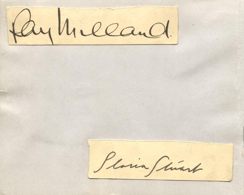 Image 1 for Ray Milland - Autograph co-signed by: Gloria Stuart - HFSID 46777