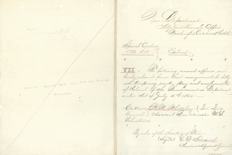 Image 1 for Major General Oliver O. Howard - Manuscript Letter Signed 10/18/1866 - HFSID 46929