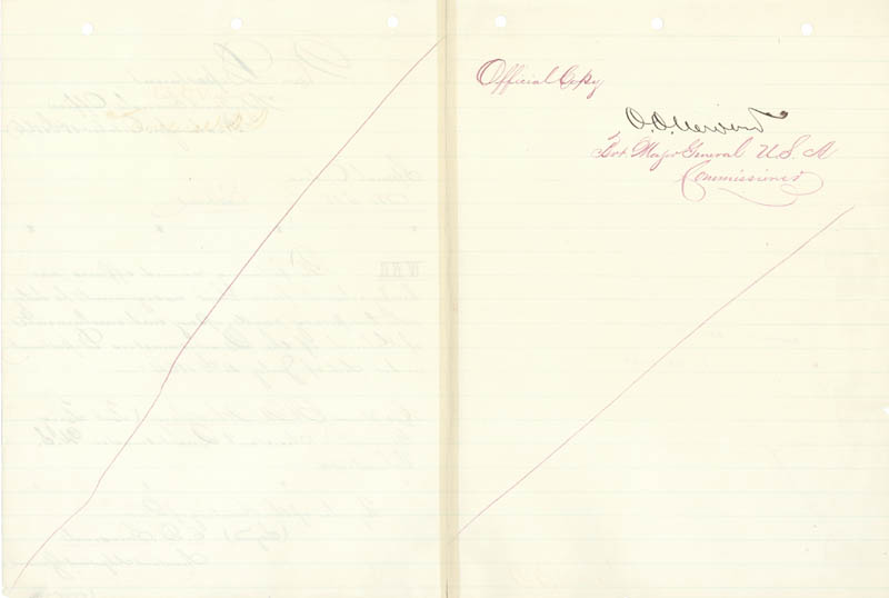 Image 3 for Major General Oliver O. Howard - Manuscript Letter Signed 10/18/1866 - HFSID 46929
