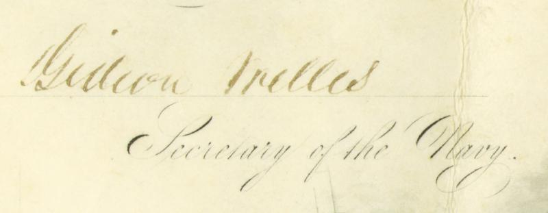 Image 4 for President Andrew Johnson - Naval Appointment Signed 03/12/1868 co-signed by: Gideon Welles - HFSID 47012