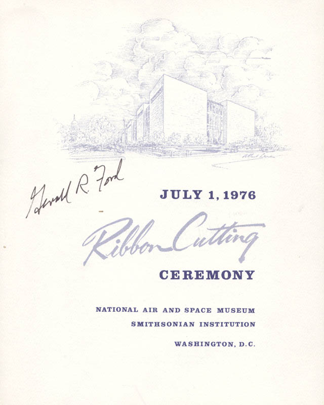 Image 1 for President Gerald R. Ford - Program Signed Circa 1976 - HFSID 47027