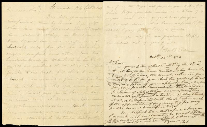 Image 1 for President Andrew Jackson - Autograph Letter Signed 10/23/1826 co-signed by: John H. Eaton - HFSID 4708
