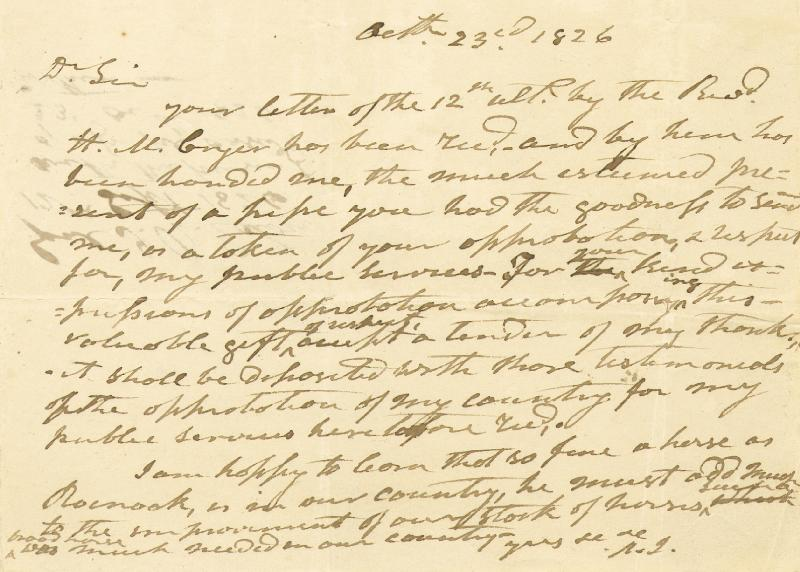 Image 3 for President Andrew Jackson - Autograph Letter Signed 10/23/1826 co-signed by: John H. Eaton - HFSID 4708