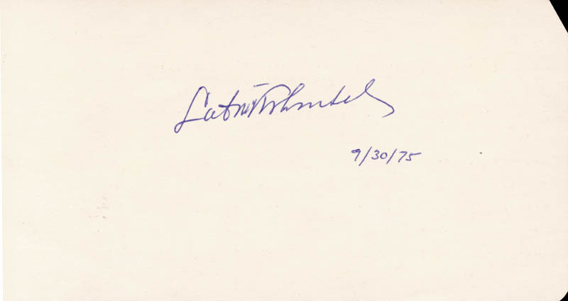 Image 1 for Lubos Kohoutek - Autograph 07/30/1975 - HFSID 47249