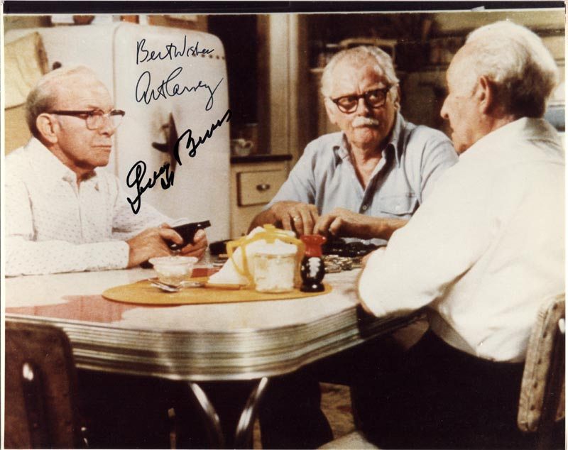 Image 1 for Going In Style Movie Cast - Autographed Signed Photograph co-signed by: George Burns, Art Carney - HFSID 47322