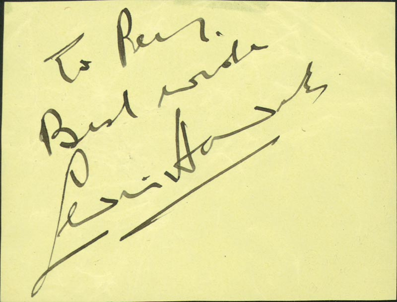 Image 1 for Sir Cedric Hardwicke - Autograph Note Signed - HFSID 474