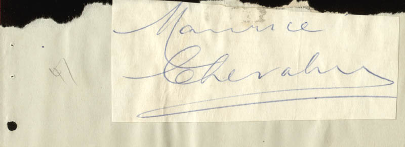 Image 1 for Maurice Chevalier - Autograph - HFSID 47576