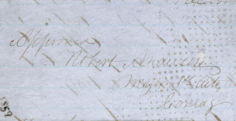 Image 1 for Major General Robert Anderson - Autograph Endorsement Signed Circa 1859 - HFSID 47589