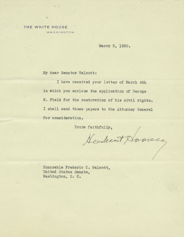 Image 1 for President Herbert Hoover - Typed Letter Signed 03/05/1930 - HFSID 4759