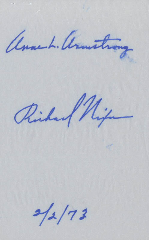Image 1 for President Richard M. Nixon - Autograph 02/02/1973 co-signed by: Anne Armstrong - HFSID 47684