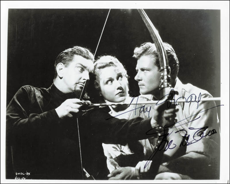 Image 1 for The Most Dangerous Game Movie Cast - Autographed Signed Photograph co-signed by: Fay Wray, Joel Mccrea - HFSID 47740