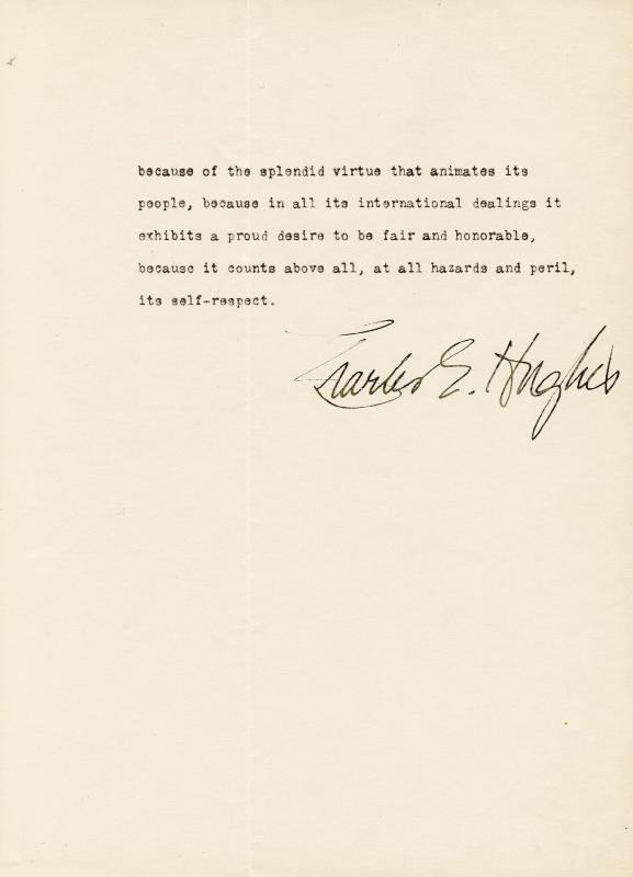 Image 3 for Chief Justice Charles E Hughes - Typescript Signed - HFSID 47977