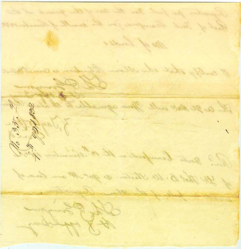 Image 3 for President Zachary Taylor - Manuscript Endorsment Signed 11/13/1832 co-signed by: Thomas P. Gwynn - HFSID 4810