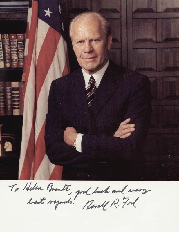 Image 1 for President Gerald R. Ford - Autographed Inscribed Photograph - HFSID 48110