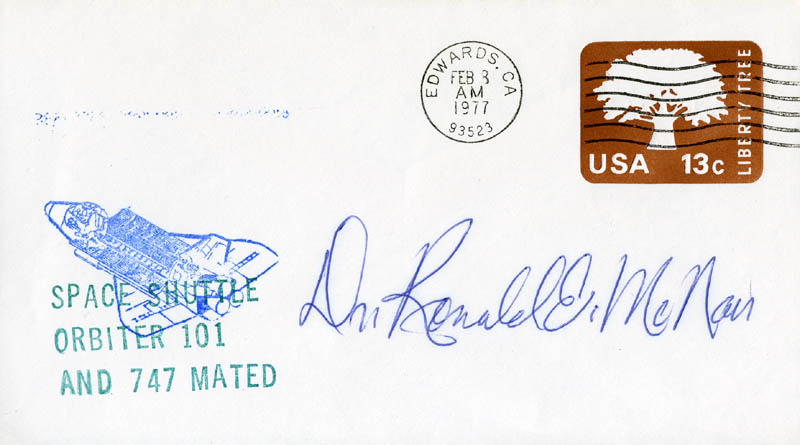 Image 1 for Ronald E. Mcnair - Commemorative Envelope Signed - HFSID 48136