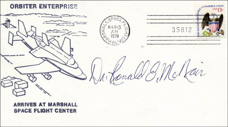 Image 1 for Ronald E. Mcnair - Commemorative Envelope Signed - HFSID 48138