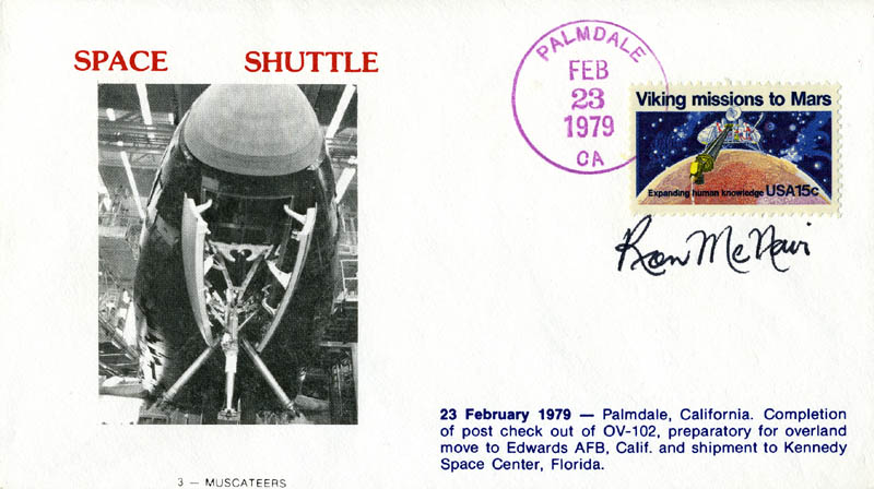 Image 1 for Ronald E. Mcnair - Commemorative Envelope Signed - HFSID 48140