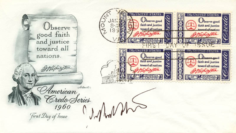 Image 1 for Associate Justice John Paul Stevens - First Day Cover Signed - HFSID 48149