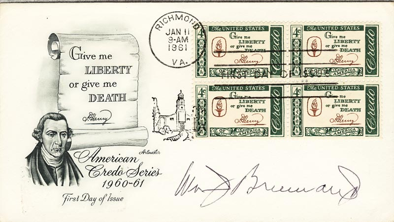 Image 1 for Associate Justice William J. Brennan Jr. - First Day Cover Signed - HFSID 48180
