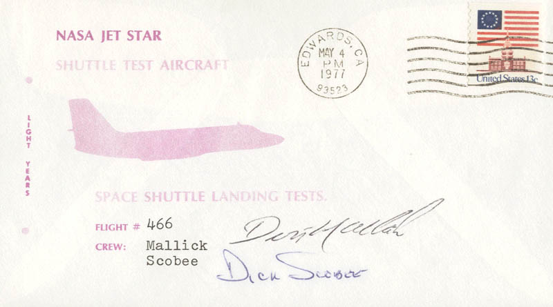 Image 1 for Lt. Colonel Dick (Francis R.) Scobee - Special Cover Signed co-signed by: Lt. Commander Donald L. Mallick - HFSID 48188
