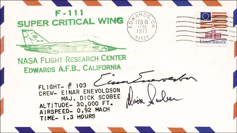 Image 1 for Lt. Colonel Dick (Francis R.) Scobee - Special Cover Signed co-signed by: Einar Enevoldson - HFSID 48191