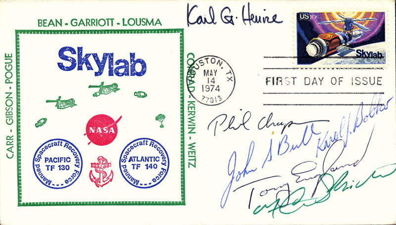Image 1 for Karl G. Henize - First Day Cover Signed with co-signers - HFSID 48197