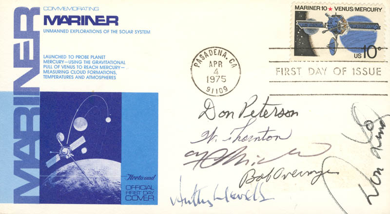 Image 1 for Colonel Robert Overmyer - First Day Cover Signed with co-signers - HFSID 48199
