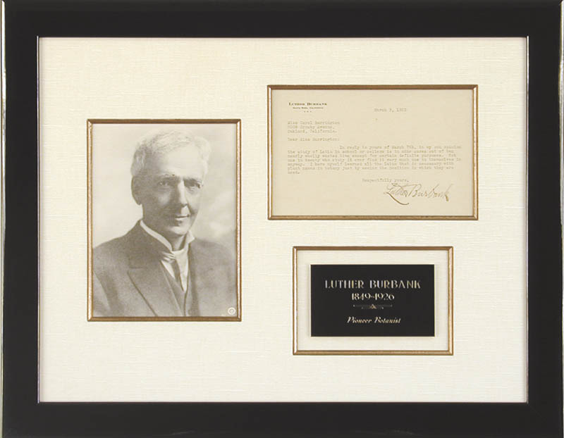 Image 1 for Luther Burbank - Typed Letter Signed 03/09/1923 - HFSID 48202