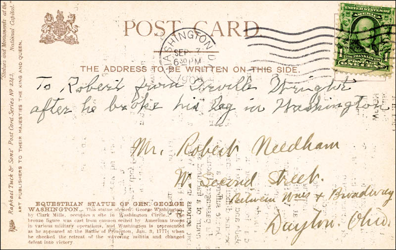 Image 3 for Orville Wright - Autograph Note Signed Circa 1908 - HFSID 48256