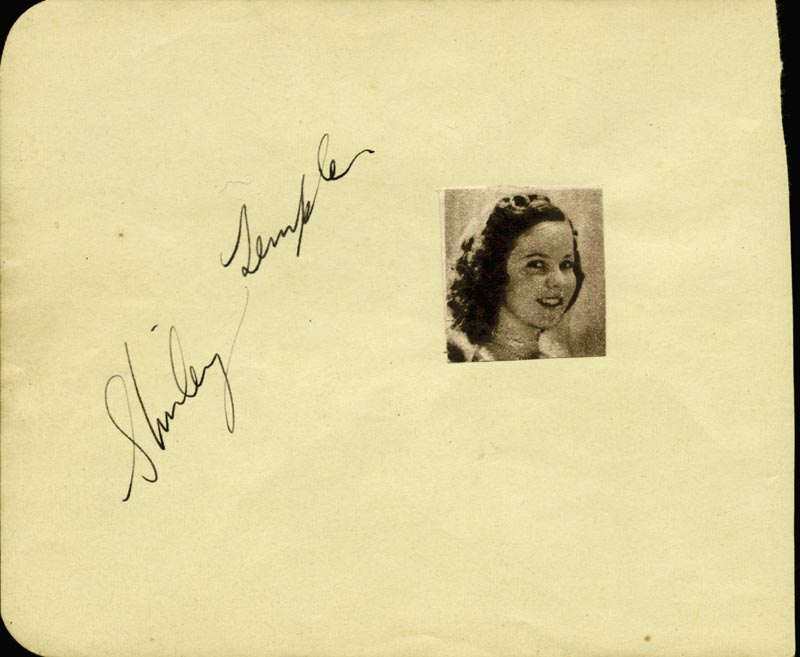 Image 1 for Shirley Temple - Autograph co-signed by: Vince Barnett - HFSID 48267