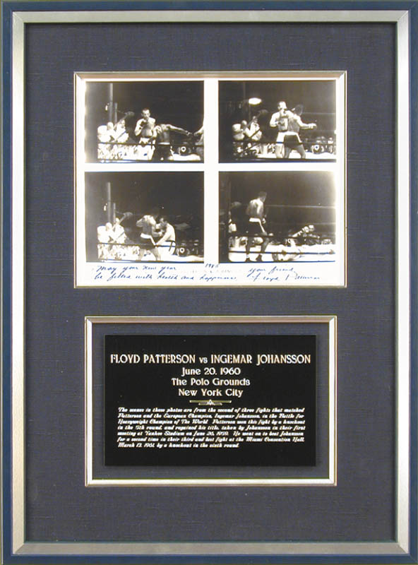 Image 1 for Floyd Patterson - Autographed Signed Photograph 1985 co-signed by: Ingemar Johansson - HFSID 48311
