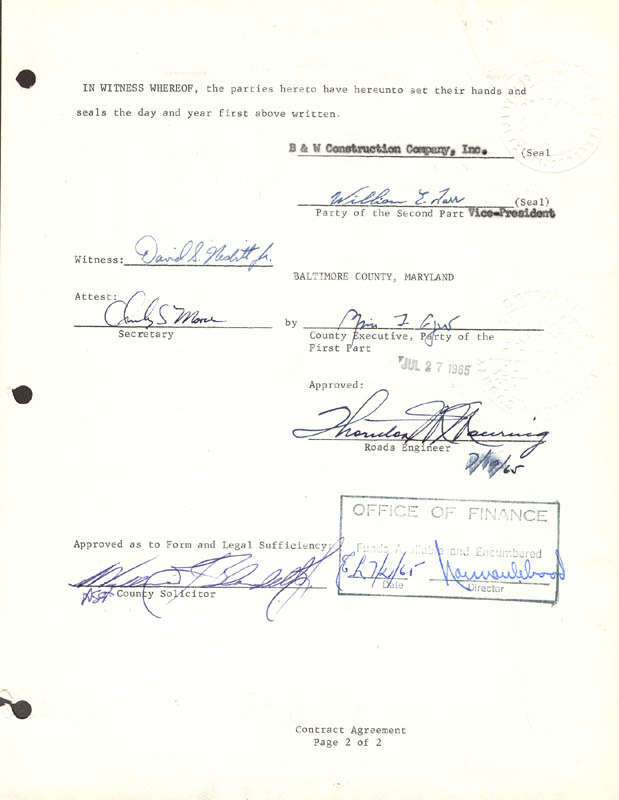 Image 1 for Vice President Spiro T. Agnew - Contract Signed 07/14/1965 - HFSID 48333